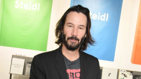 PARIS, FRANCE - NOVEMBER 10:  Keanu Reeves attends the Shadow Book signing on Steidle stand as part of Paris Photo 2017 : Day Two At Le Grand Palais  on November 10, 2017 in Paris, France.  (Photo by Foc Kan/WireImage)