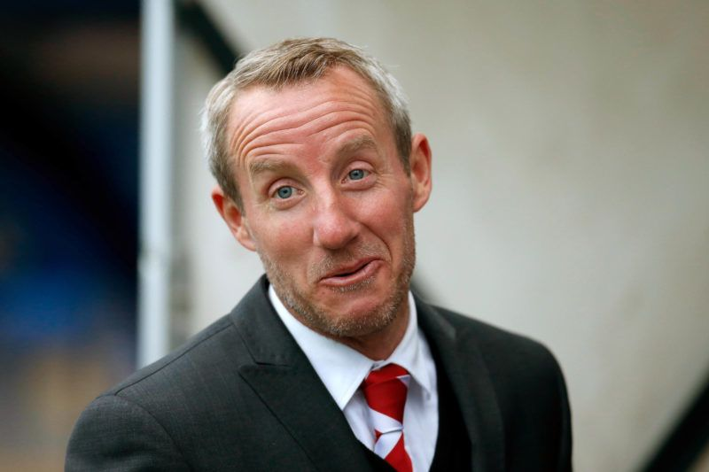 SHREWSBURY, ENGLAND - APRIL 17: Charlton Athletic manager Lee Bowyer looks on during the Sky Bet League One match between Shrewsbury Town and Charlton Athletic at New Meadow on April 17, 2018 in Shrewsbury, England. (Photo by Malcolm Couzens/Getty Images)