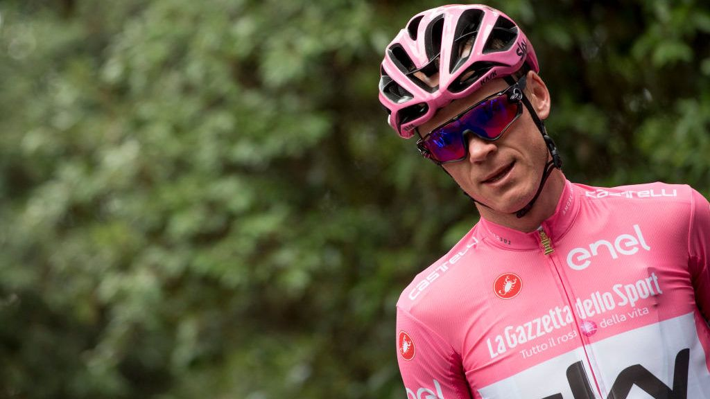 Chris Froome has won the Giro d'Italia for his third consecutive Grand Tour victory. The four-time Tour de France champion had no trouble protecting his 46-second lead over defending champion Tom Dumoulin in Sunday's mostly ceremonial final stage through historic Rome.  (Photo by Massimo Valicchia/NurPhoto via Getty Images)