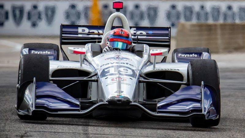 DETROIT, MI - JUNE 3: Santino Ferrucci #19 drives the Honda Indy Car for Dale Coyne Racing during the Chevrolet Dual in Detroit - Dual II during 2018 Chevrolet Detroit Grand Prix at Belle Isle on June 3, 2018 in Detroit, Michigan. (Photo by Dave Reginek/Getty Images)