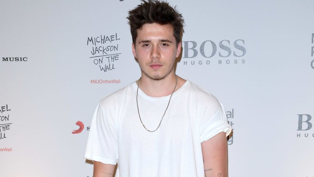 LONDON, ENGLAND - JUNE 26:  Brooklyn Beckham attends the 'Michael Jackson: On The Wall' Private View sponsored by HUGO BOSS at the at National Portrait Gallery on June 26, 2018 in London, England.  (Photo by Karwai Tang/WireImage)