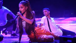 BROOKLYN, NY - JULY 11:  Ariana Grande performs onstage at the Amazon Music Unboxing Prime Day event in Brooklyn on July 11, 2018 in Brooklyn, New York.  (Photo by Kevin Mazur/Getty Images for Amazon)