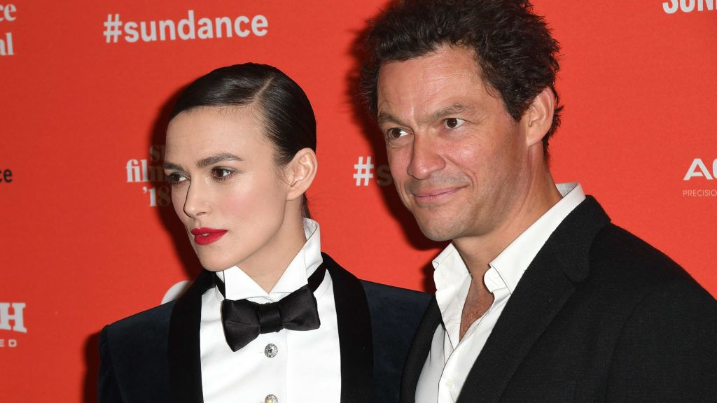 PARK CITY, UT - JANUARY 20:  Actors Keira Knightley and Dominic West attend the 'Colette' Premiere during the 2018 Sundance Film Festival at Eccles Center Theatre on January 20, 2018 in Park City, Utah. (Photo by C Flanigan/FilmMagic)