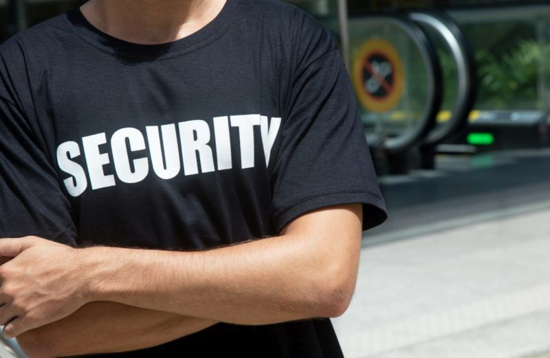 Shirt with symbol for security