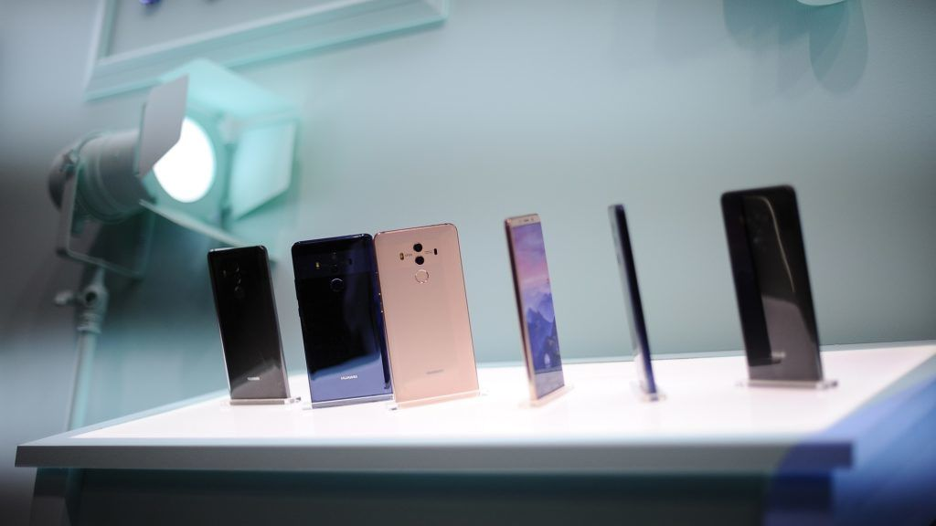 Huawei mate P10 with Leica camera, showed in all colors at Huawei stand during the Mobile World Congress Day 2 on February 27, 2018 in Barcelona, Spain.  (Photo by Joan Cros/NurPhoto)