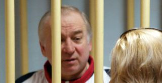 Former Russian military intelligence colonel Sergei Skripal attends a hearing at the Moscow District Military Court in Moscow on August 9, 2006. Sergei Skripal, a former Russian double agent whose mysterious collapse in England sparked concerns of a possible poisoning by Moscow, has been living in Britain since a high-profile spy swap in 2010. Police were probing his exposure to an unknown substance, which left him unconscious on a bench in the city of Salisbury and saw media draw parallels to the case of Alexander Litvinenko, an ex-spy who died of radioactive polonium poisoning in 2006.  / AFP PHOTO / Kommersant Photo / Yuri SENATOROV / Russia OUT