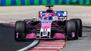BUDAPEST, HUNGARY - JULY 28:  Sergio Perez of Mexico and Sahara Force India  during final practice for the Formula One Grand Prix of Hungary at Hungaroring on July 28, 2018 in Budapest, Hungary.  (Photo by Peter J Fox/Getty Images)