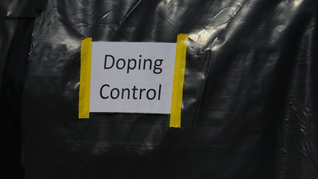 The Anti Doping zone is pictured at The Prudential RideLondon Classique 2018 in Central London on July 28, 2018. RideLondon, known through sponsorship as Prudential RideLondon, is an annual three-day festival of cycling held in London. It was developed by the Mayor of London, London and Partners and Transport for London in partnership with Surrey County Council, and is managed by London and Surrey Cycling Partnership.  (Photo by Alberto Pezzali/NurPhoto via Getty Images)