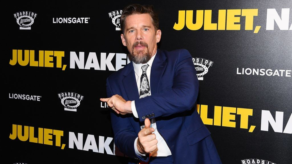 """NEW YORK, NY - AUGUST 14:  Ethan Hawke attends the """"Juliet, Naked"""" New York Premiere at Metrograph on August 14, 2018 in New York City.  (Photo by Nicholas Hunt/Getty Images)"""