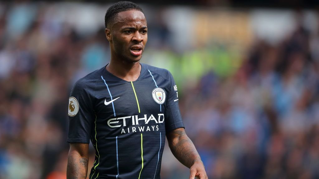 WOLVERHAMPTON, ENGLAND - AUGUST 25: Raheem Sterling of Manchester City during the Premier League match between Wolverhampton Wanderers and Manchester City at Molineux on August 25, 2018 in Wolverhampton, United Kingdom. (Photo by Sam Bagnall - AMA/Getty Images)