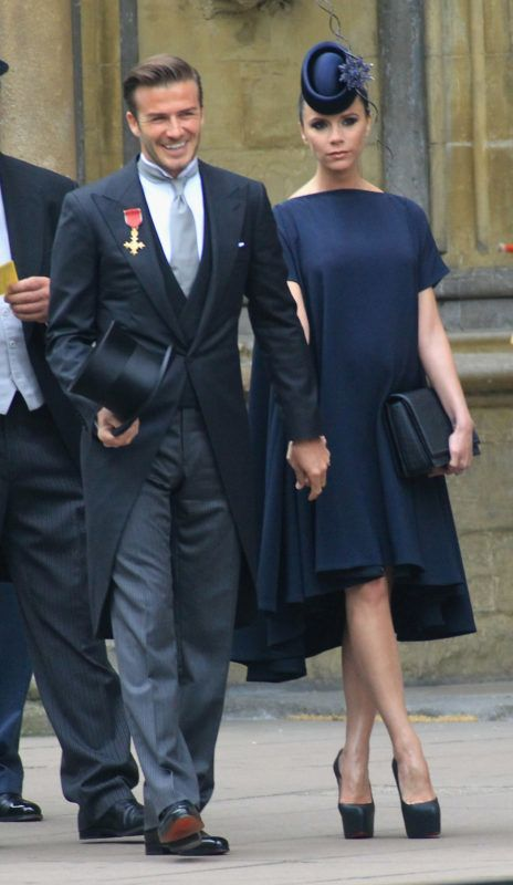 David Beckham and Victoria Beckham arrive to attend the Royal Wedding of Prince William to Catherine Middleton at Westminster Abbey on April 29, 2011 in London, England. The marriage of the second in line to the British throne is to be led by the Archbishop of Canterbury and will be attended by 1900 guests, including foreign Royal family members and heads of state. Thousands of well-wishers from around the world have also flocked to London to witness the spectacle and pageantry of the Royal Wedding.