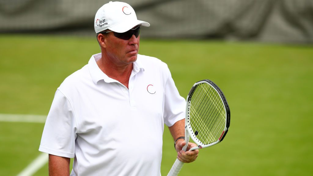 LONDON, ENGLAND - JULY 06: Ivan Lendl, coach of Andy Murray of Great Britain (not pictured) looks on during a training session on day four of the Wimbledon Lawn Tennis Championships at the All England Lawn Tennis and Croquet Club on July 6, 2017 in London, England.  (Photo by Clive Brunskill/Getty Images)