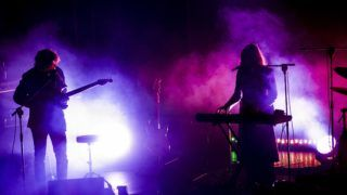 CASTELBUONO,SICILY August 13 :a American dream pop band Beach House performs on stage during Ypsigrock Festival on August 11, 2017 in Castelbuono, Palermo, Italy.