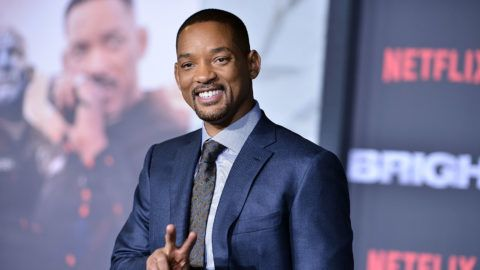 "WESTWOOD, CA - DECEMBER 13:  Will Smith attends the premiere of Netflix's ""Bright"" at Regency Village Theatre on December 13, 2017 in Westwood, California.  (Photo by Araya Diaz/WireImage)"