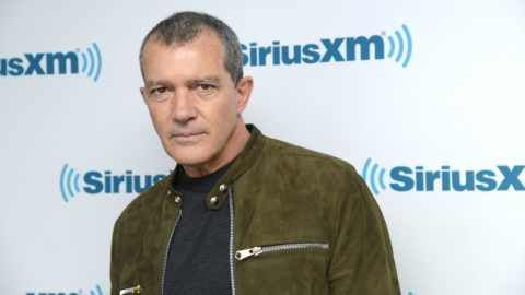 NEW YORK, NY - APRIL 20:  Actor Antonio Banderas visits SiriusXM Studios on April 20, 2018 in New York City.  (Photo by Ben Gabbe/Getty Images)