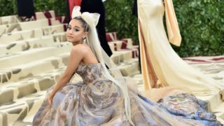 NEW YORK, NY - MAY 07:  Ariana Grande attends the Heavenly Bodies: Fashion & The Catholic Imagination Costume Institute Gala at The Metropolitan Museum of Art on May 7, 2018 in New York City.  (Photo by Jason Kempin/Getty Images)