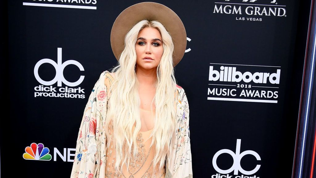 LAS VEGAS, NV - MAY 20:  Kesha arrives at the 2018 Billboard Music Awards at MGM Grand Garden Arena on May 20, 2018 in Las Vegas, Nevada.  (Photo by Steve Granitz/WireImage)