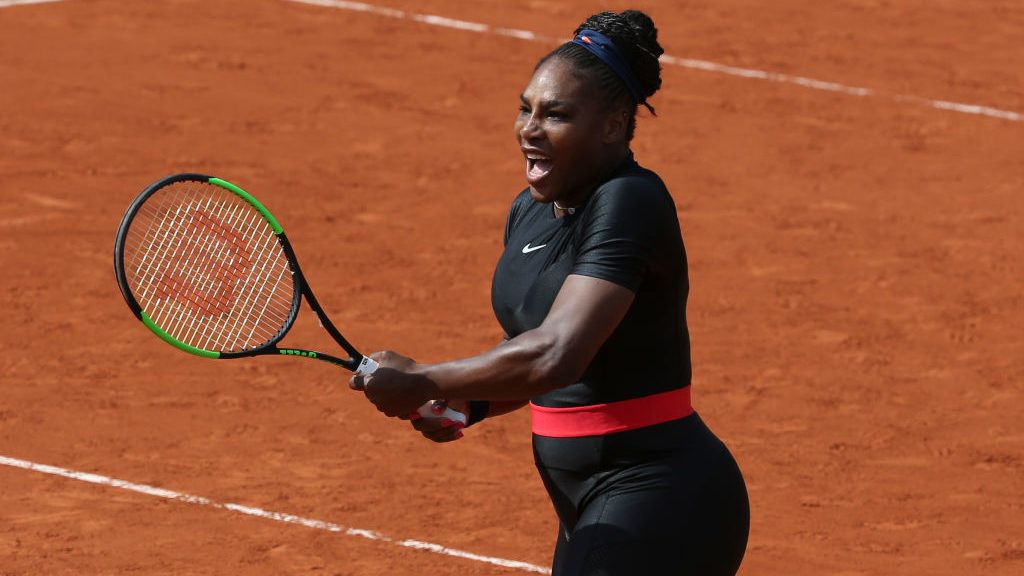PARIS, FRANCE - JUNE 3: Serena Williams of USA during Day 8 of the 2018 French Open at Roland Garros stadium on June 3, 2018 in Paris, France. (Photo by Jean Catuffe/Getty Images)