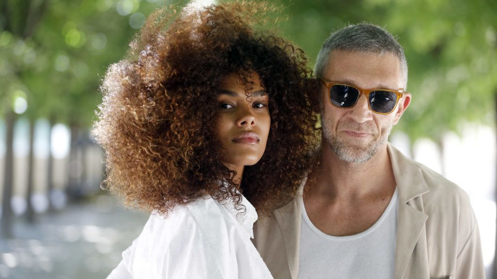 PARIS, FRANCE - JUNE 21:  Vincent Cassel and Tina Kunakey attend the Louis Vuitton Menswear Spring/Summer 2019 show as part of Paris Fashion Week on June 21, 2018 in Paris, France.  (Photo by Chesnot/WireImage)