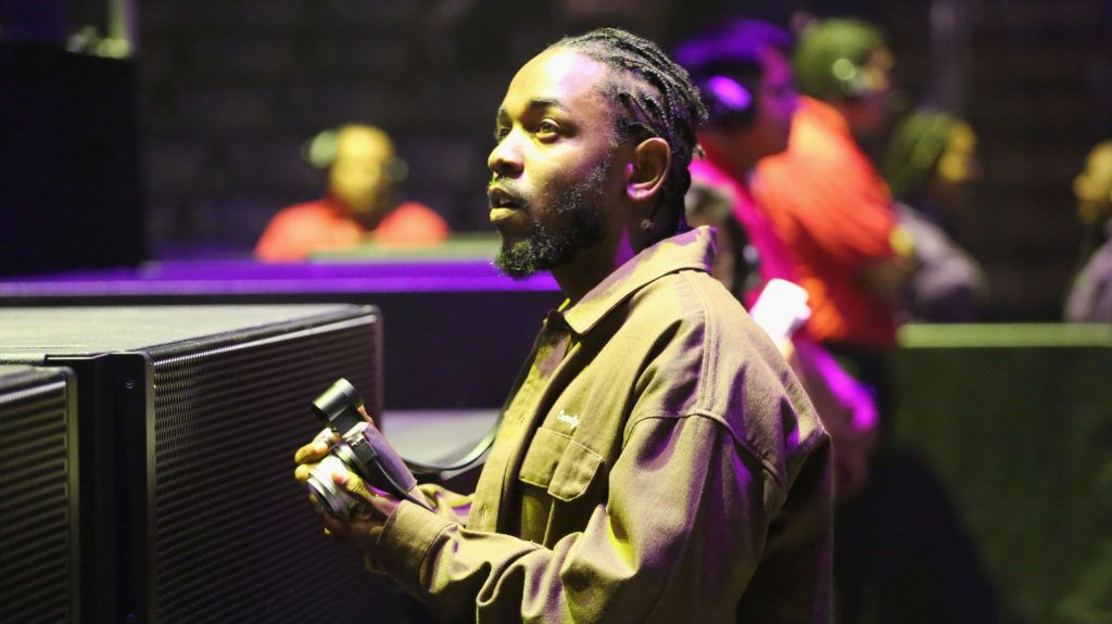LOS ANGELES, CA - JUNE 22:  Kendrick Lamar attends the 2018 BET Experience Staples Center Concert, sponsored by COCA-COLA, at L.A. Live on June 22, 2018 in Los Angeles, California.  (Photo by Ser Baffo/Getty Images for BET)