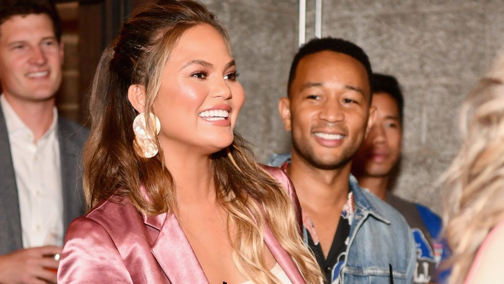 CULVER CITY, CA - JULY 11:  Chrissy Teigen and John Legend attend the Finery App launch party hosted by Brooklyn Decker at Microsoft Lounge on July 11, 2018 in Culver City, California.  (Photo by Emma McIntyre/Getty Images for Finery)