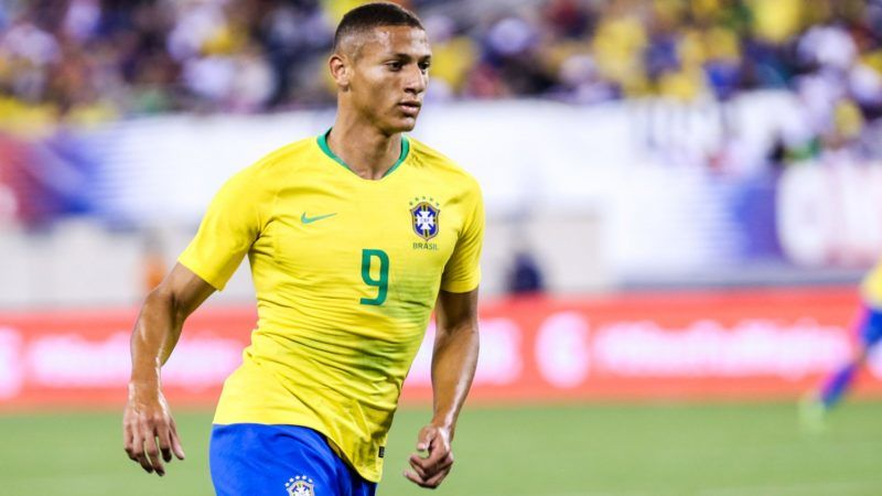 Richarlison of Brazil during match against the United States, international friendly at the MetLife Stadium in the city of East Rutherford in the United States the night of this Friday, 07 (PHOTO: VANESSA CARVALHO/BRAZIL PHOTO PRESS)