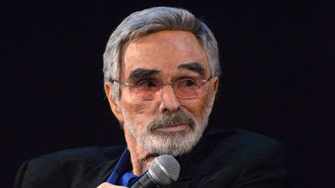 """HOLLYWOOD, CA - MARCH 22: Actor Burt Reynolds speaks during a Q&A session at the Los Angeles premiere of """"The Last Movie Star"""" at the Egyptian Theatre on March 22, 2018 in Hollywood, California.   Michael Tullberg/Getty Images/AFP"""