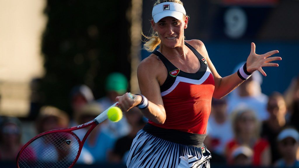 Timea Babos of Hungary in action during the first round of the 2018 US Open Grand Slam tennis tournament, at Billie Jean King National Tennis Center in Flushing Meadow, New York, USA, August 28th 2018, Photo Rob Prange / SpainDPPI / DPPI
