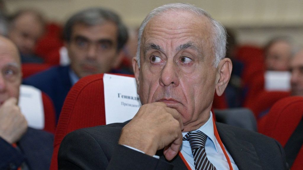 3223396 10/27/2017 President of Chamber of Commerce and Industry of the Republic of Abkhazia Gennady Gagulia at the Eighth Russian-Abkhaz Business Forum in Sukhum. Thomas Tkhaytsuk/Sputnik