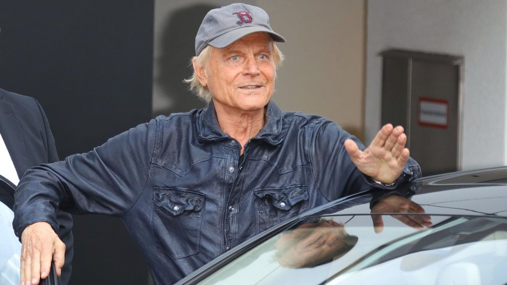 HAMBURG, GERMANY - AUGUST 22: Terence Hill during the 'Markus Lanz' TV Show on August 22, 2018 in Hamburg, Germany. (Photo by Tristar Media/Getty Images)