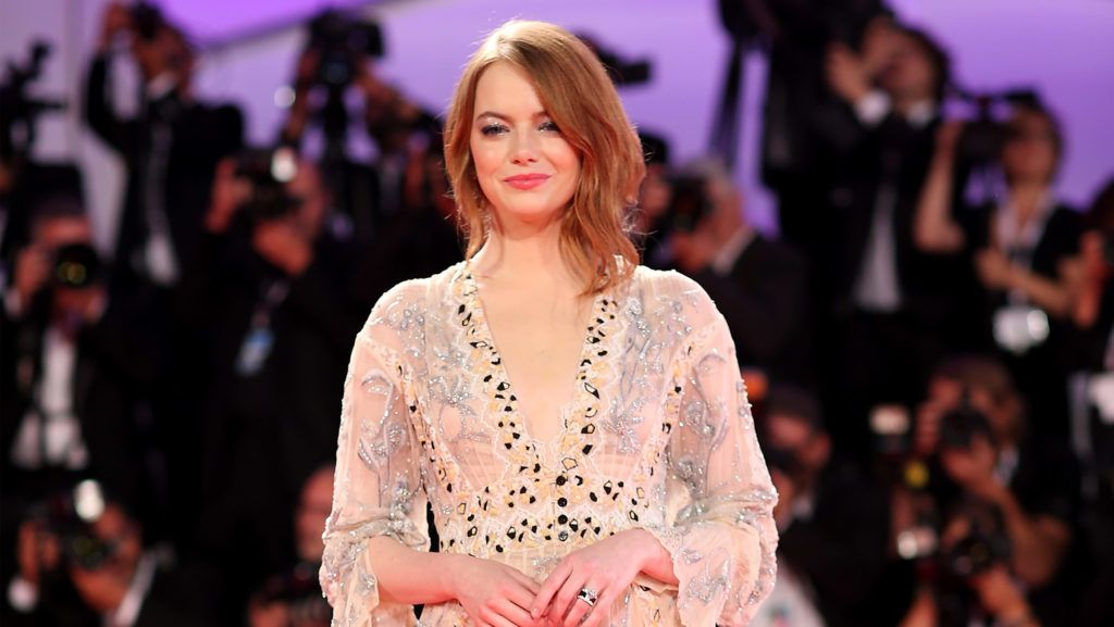 VENICE, ITALY - AUGUST 30:  Actress Emma Stone walks the red carpet ahead of the 'The Favourite' screening during the 75th Venice Film Festival at Sala Grande on August 30, 2018 in Venice, Italy.  (Photo by Franco Origlia/Getty Images)