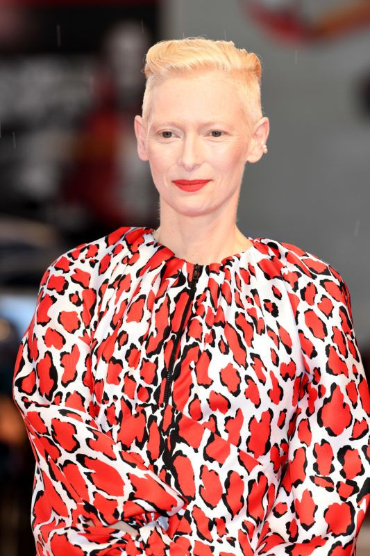 VENICE, ITALY - SEPTEMBER 03:  Tilda Swinton walks the red carpet ahead of the 'At Eternity's Gate' screening during the 75th Venice Film Festival at Sala Grande on September 3, 2018 in Venice, Italy.  (Photo by Daniele Venturelli/Daniele Venturelli/WireImage)