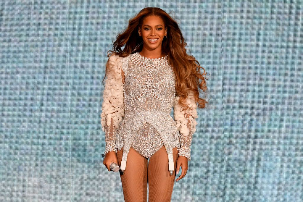 "HOUSTON, TX - SEPTEMBER 15:  Beyonce performs onstage during the ""On the Run II"" Tour at NRG Stadium on September 15, 2018 in Houston, Texas.  (Photo by Kevin Winter/PW18/Getty Images for Parkwood Entertainment)"