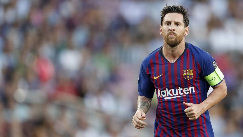 Lionel Messi of FC Barcelona during the UEFA Champions League group B match between FC Barcelona and PSV Eindhoven at the Camp Nou stadium on September 18, 2018 in Barcelona, Spain.(Photo by VI Images via Getty Images)