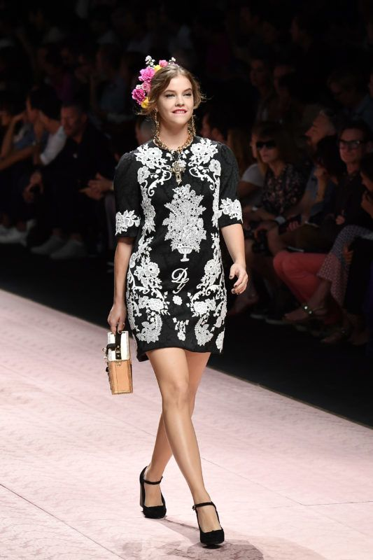 MILAN, ITALY - SEPTEMBER 23:  Barbara Palvin walks the runway at the Dolce & Gabbana show during Milan Fashion Week Spring/Summer 2019 on September 23, 2018 in Milan, Italy.  (Photo by Jacopo Raule/Getty Images)