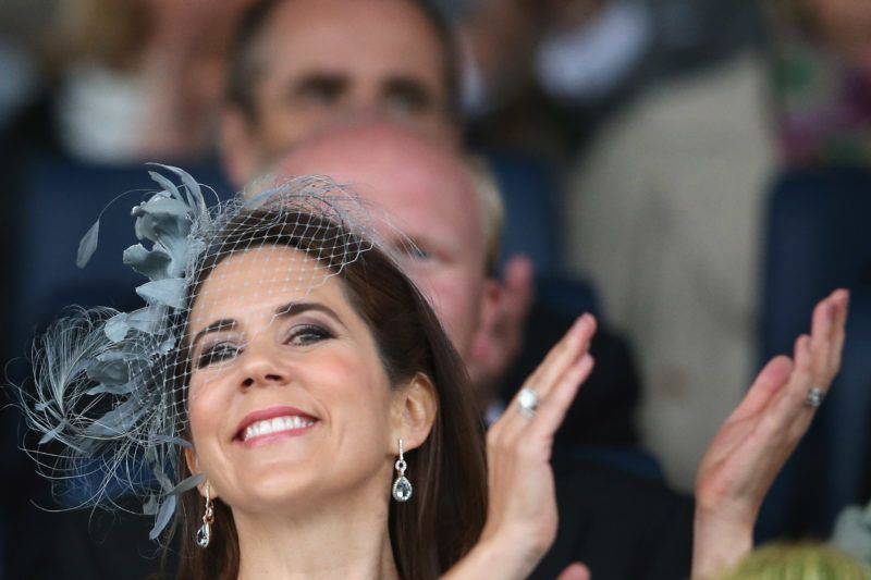 AACHEN, GERMANY - JUNE 25:  Crown Princess Mary of Denmark smiles on the tribune during the Opening Ceremony during day one of the 2013 CHIO Aachen tournament on June 25, 2013 in Aachen, Germany.  (Photo by Christof Koepsel/Bongarts/Getty Images)