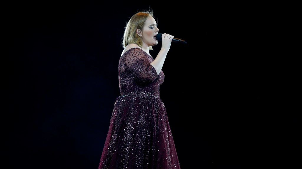 AUCKLAND, NEW ZEALAND - MARCH 23:  Adele performs at Mt Smart Stadium on March 23, 2017 in Auckland, New Zealand.  (Photo by Phil Walter/Getty Images)
