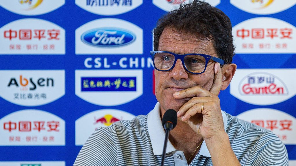BEIJING, CHINA - JUNE 26:  Jiangsu FC head coach Fabio Capello reacts during post match press conference after the China Super League match between Beijing Guoan and Jiangsu FC at Beijing Workers Stadium on June 26, 2017 in Beijing, China.  (Photo by yifan ding/Getty Images)