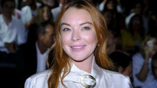 actress Lindsay Lohan  creation for Spring-Autunm 2018 Collection of Devota & Lomba during the first day of the Madrid Fashion Week, in Madrid, Spain, 1 September 2017. (Photo by Oscar Gonzalez/NurPhoto via Getty Images)