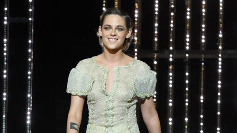 CANNES, FRANCE - MAY 19: Kristen Stewart arrives on stage during the Closing Ceremony at the 71st annual Cannes Film Festival at Palais des Festivals on May 19, 2018 in Cannes, France.  (Photo by Stephane Cardinale - Corbis/Corbis via Getty Images)