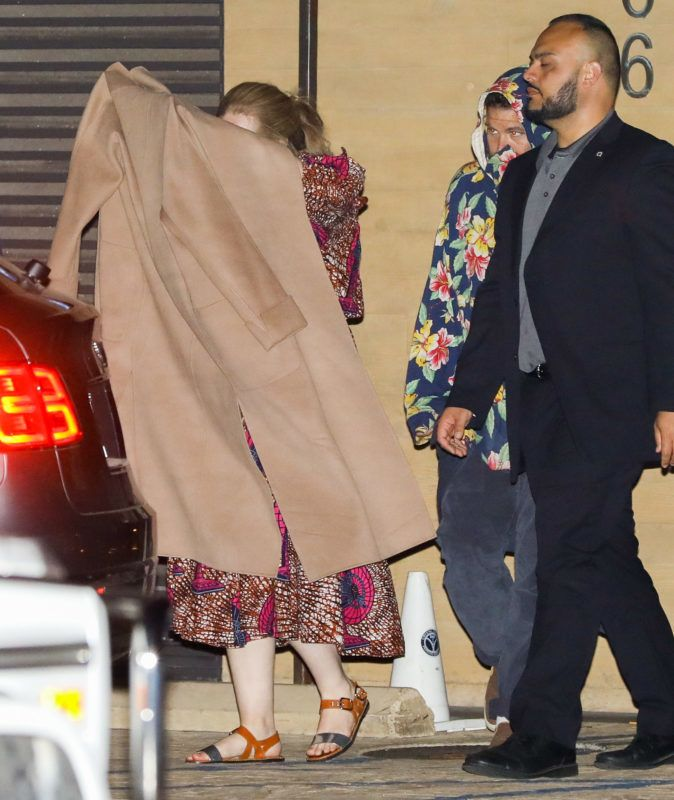 Adele does not want to be seen at Nobu in Malibu saturday night sept 15, 2018 /X17online.com September  , 2018