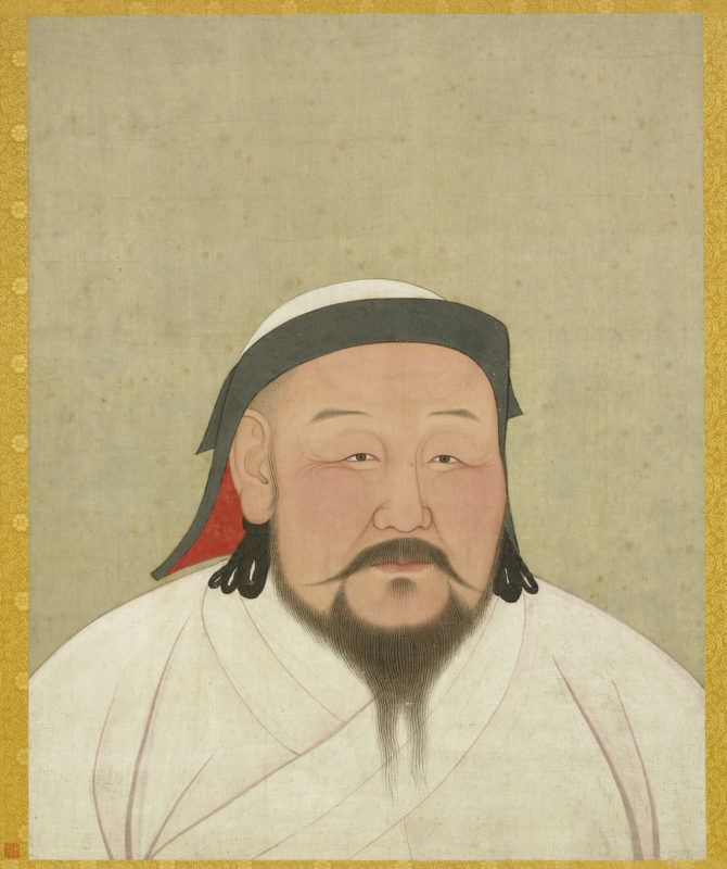 Kublai Khan as the first Yuan emperor, Shizu. Yuan dynasty (1271–1368). Album leaf, ink and color on silk. National Palace Museum, Taipei, 000324-00003. Photograph © National Palace Museum, Taipei.