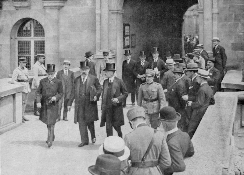 Austrian delegation to the Versailles peace agreement 1919