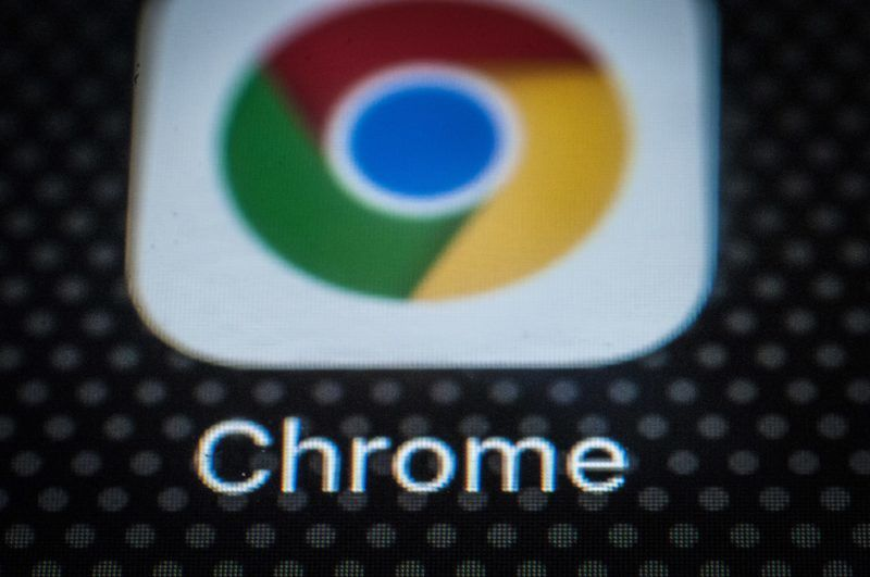 The Chrome browser app for mobile devices is seen on the screen of a portable device on December 6, 2017. (Photo by Jaap Arriens/NurPhoto)