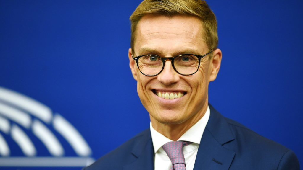 0285d2db5b Vice-President of the European Investment Bank Alexander Stubb attends a  press conference at the