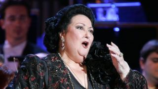 (FILES) In this file photo taken on January 27, 2005 Spanish opera singer Montserrat Caballe performing at the Palais des Festivals in Cannes. The famous Spanish soprano Montserrat Caballé died on October 6, 2018 at age 85 in Barcelona, according to the Sant Pau hospital sources in Barcelona. / AFP PHOTO / Pascal GUYOT