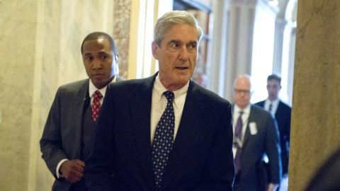 Special Counsel Robert Mueller departs the United States Capitol following his closed-door meeting with top members of the US Senate Committee on the Judiciary in Washington, DC on Wednesday, June 21, 2017. The meeting was to ensure Mueller's investigation does not conflict with the work of the US House and US Senate committees investigating Russian involvement in the 2016 Presidential campaign and possible collusion with the Trump campaign. Credit: Ron Sachs / CNP    - NOWIRESERVICE- Photo: Ron Sachs/Consolidated News Photos/Ron Sachs - CNP