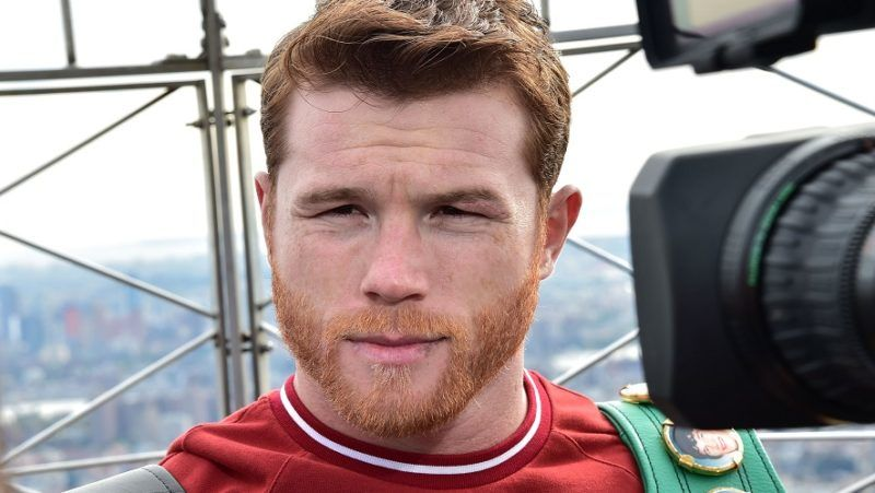 NEW YORK, NY - OCTOBER 16: Canelo Alvarez attends Empire State Building Hosts Boxing Champs Canelo Alvarez And Rocky Fielding at The Empire State Building on October 16, 2018 in New York City.   Theo Wargo/Getty Images/AFP