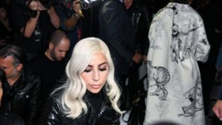 PARIS, FRANCE - SEPTEMBER 28:  Lady Gaga attends the Celine show as part of the Paris Fashion Week Womenswear Spring/Summer 2019 on September 28, 2018 in Paris, France.  (Photo by Yanshan Zhang/Getty Images)