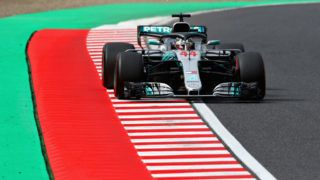 SUZUKA, JAPAN - OCTOBER 06: Lewis Hamilton of Great Britain driving the (44) Mercedes AMG Petronas F1 Team Mercedes WO9 on track during final practice for the Formula One Grand Prix of Japan at Suzuka Circuit on October 6, 2018 in Suzuka.  (Photo by Mark Thompson/Getty Images)